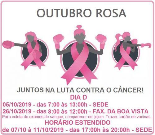 Campanha do Outubro Rosa tem início neste sábado