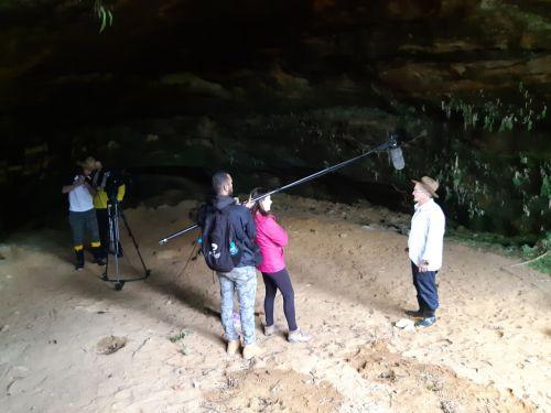 Turvo recebe equipe de reportagem que vai levar pra TV todo o nosso potencial turístico