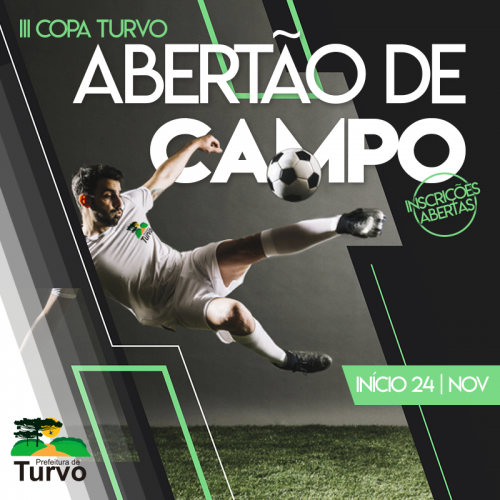 Alteração nas datas de inscrição e início da III Copa Turvo Abertão de Campo
