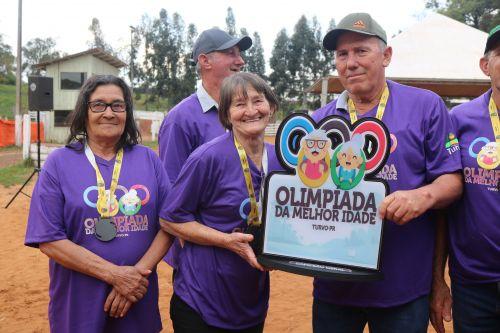 Encerrada a terceira edição da Olimpíada da Melhor Idade em Turvo