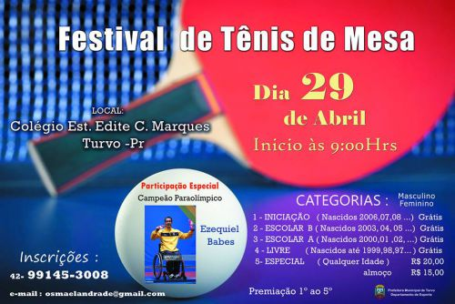 Festival de tênis de mesa