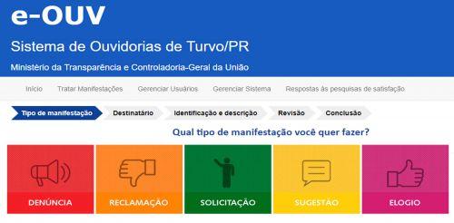 Município de Turvo adere ao Sistema de Ouvidoria do Ministério da Transparência e Controladoria da União