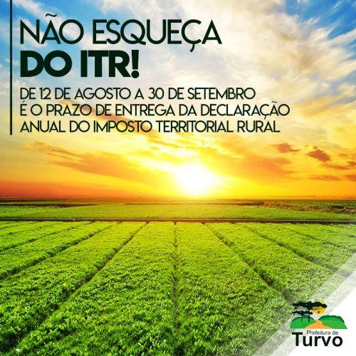 Você sabe o que é o ITR - Imposto Sobre a Propriedade Territorial Rural? Faça sua declaração!