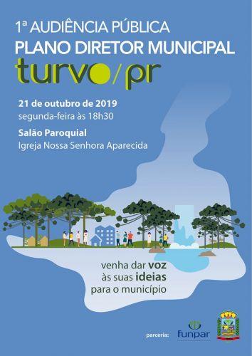 Segunda-feira (21) acontece a 1ª Audiência Pública da Revisão do Plano Diretor Municipal