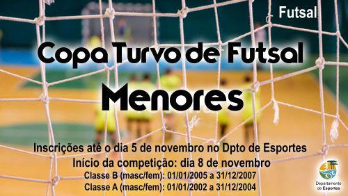 Inscrições abertas para Copa Menores