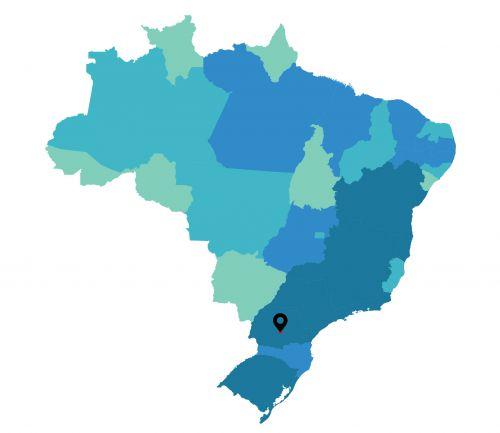 Localização de Turvo no mapa do país