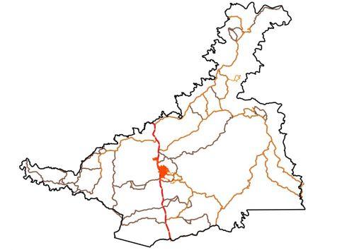 Mapa do município de Turvo