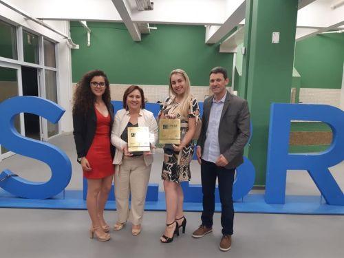 Associação Comercial e Empresarial de Turvo ganha placa de ouro da Faciap