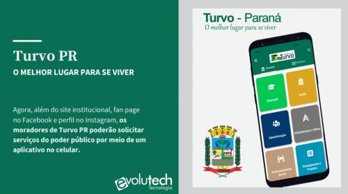 Prefeitura Municipal de Turvo lança aplicativo para consulta e solicitação de serviços públicos