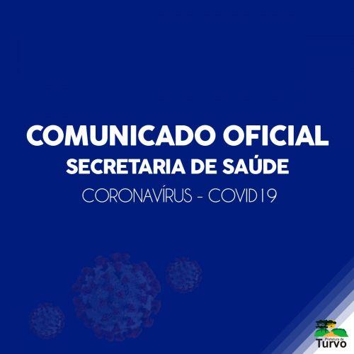 Comunicado oficial da Secretaria Municipal de Saúde