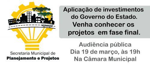 Secretaria de Planejamento convida para Audiência Pública
