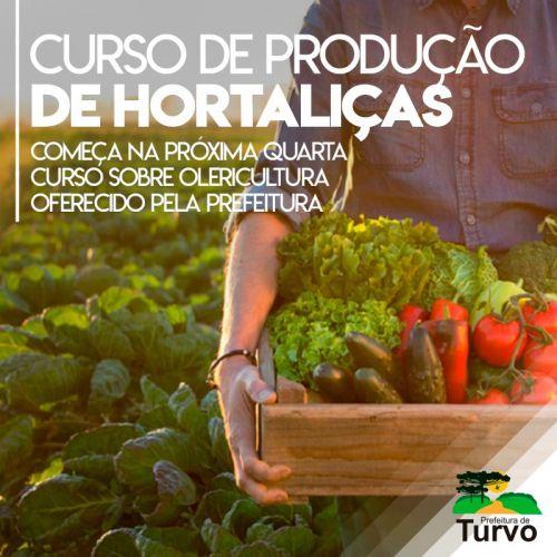 Prefeitura oferece curso de produção de hortaliças