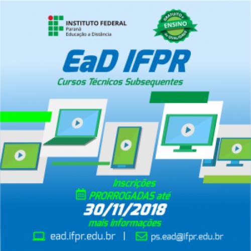 Inscrições IFPR encerram-se dia 30/11
