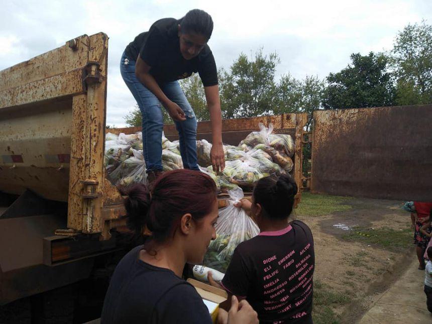 Secretaria de Assistência Social viabiliza programa Mesa Brasil para Aldeia Indígena