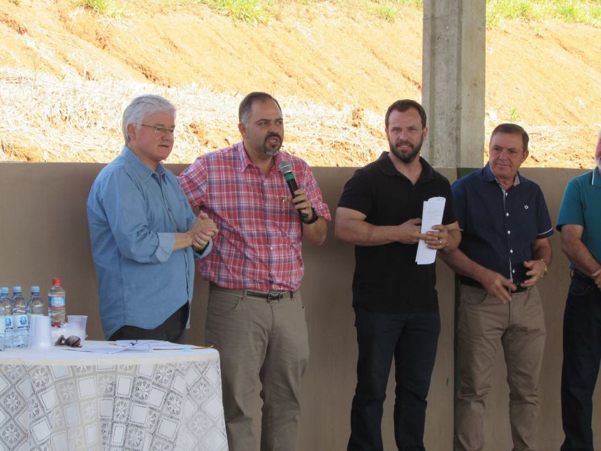 Inauguração do aterro sanitário de Cândido de Abreu