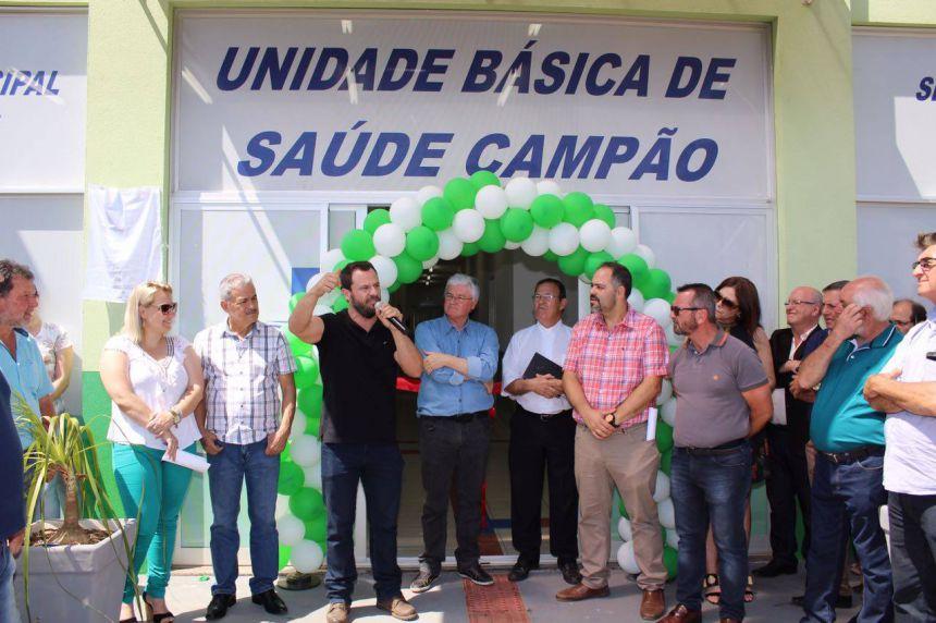 Inauguração da nova unidade de saúde no Campão
