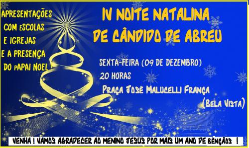 IV NOITE NATALINA DE CÂNDIDO DE ABREU