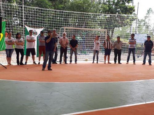 Inauguração da quadra poliesportiva no Areião