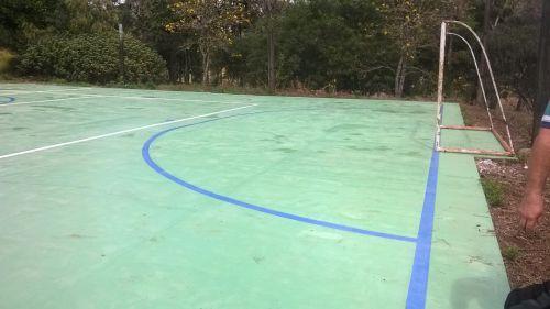 Recuperação da quadra de esportes do Saltinho - ANTES e DEPOIS