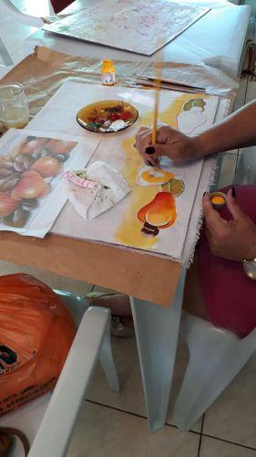 oficina de pintura no SCFV