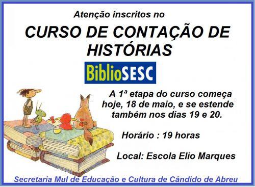 CURSO DE CONTAÇÃO DE HISTÓRIAS