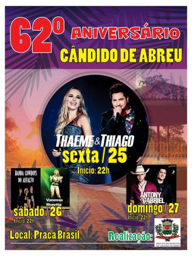 62º FESTA DE ANIVERSÁRIO DE CÂNDIDO DE ABREU