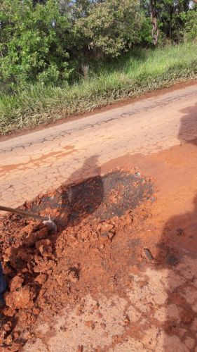 Operação Tapa-Buracos na rodovia