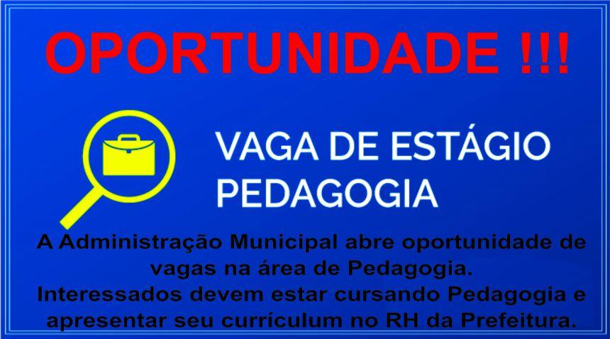 Vagas Abertas Pedagogia !!