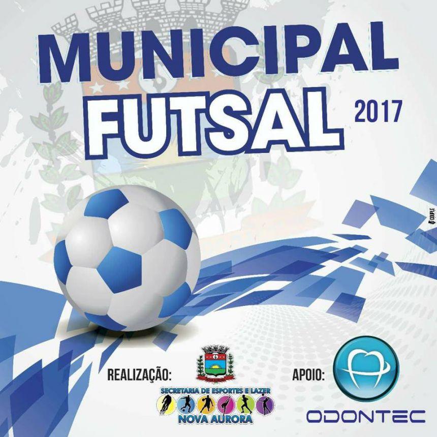 Quatro jogos marcaram a quinta rodada do 2º Campeonato Municipal de Futsal de Nova Aurora