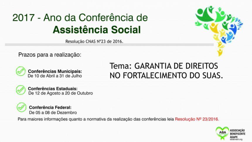 Assistência Social realiza pré conferência municipal na próxima segunda-feira