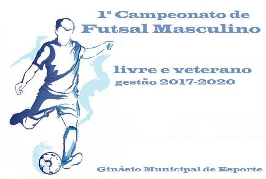 1º Campeonato Municipal de Futsal Masculino Livre e Veterano, Gestão 2017-2020