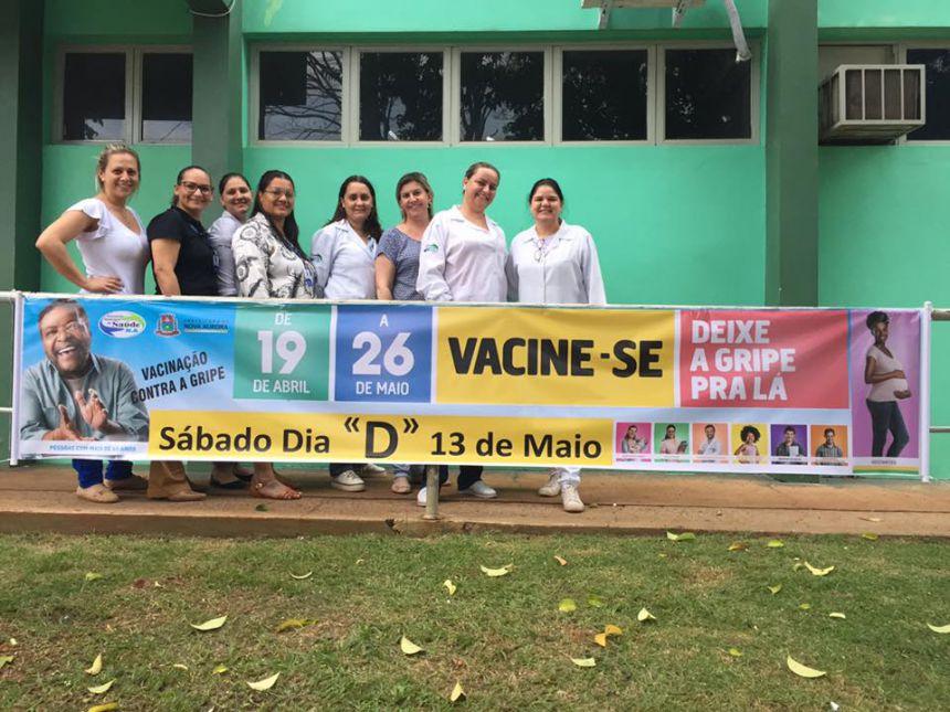 """Nova Aurora realiza  Dia """"D"""" de vacinação da Gripe"""