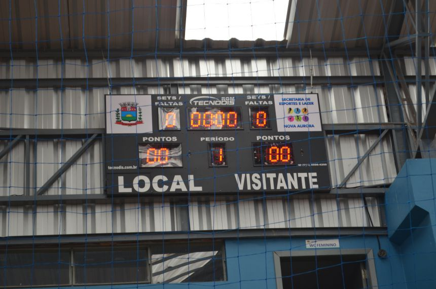 Nova Aurora sedia rodada de Futsal da Copa AMOP com Placar Eletrônico