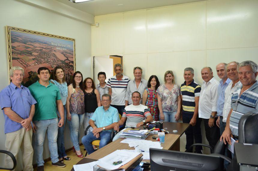 Visita do Deputado Estadual José Carlos Schiavinato a Nova Aurora