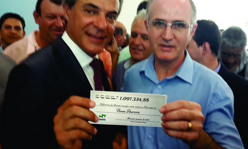 NOVA AURORA RECEBE  R$ 1.097.234,88  DO GOVERNO DO ESTADO