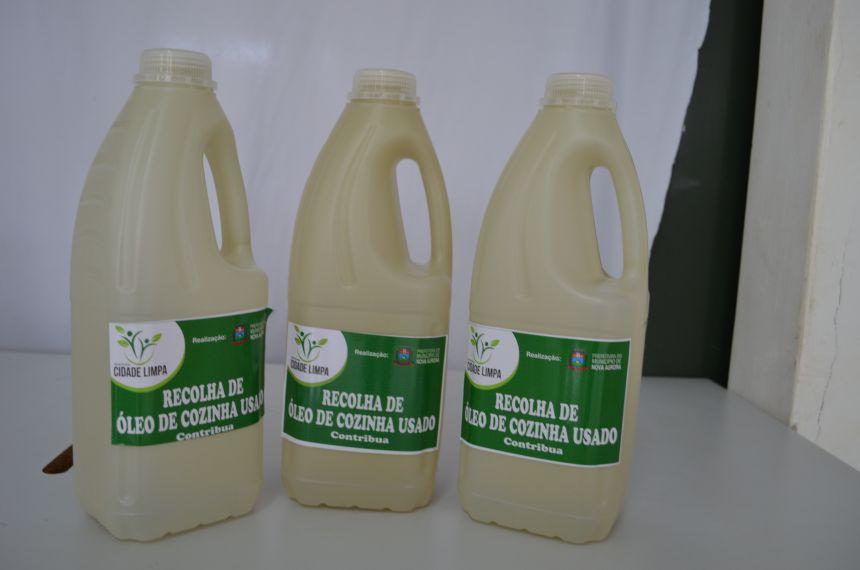Escolas de Nova Aurora recolhem óleo de cozinha usado