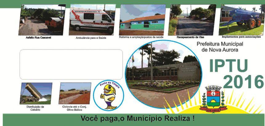 Proprietários de terrenos vazios ou com imóveis em construção devem retirar o carnê de IPTU na Prefeitura