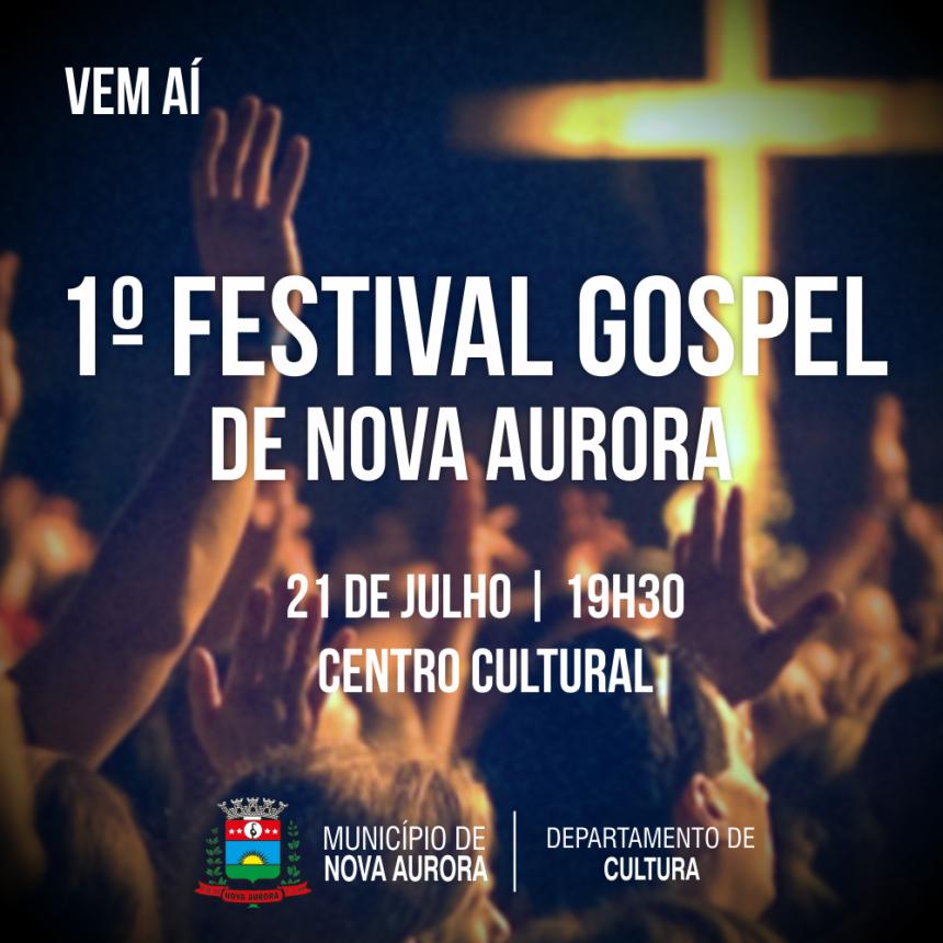 Inscrições para 1º Festival Gospel de Nova Aurora estão abertas