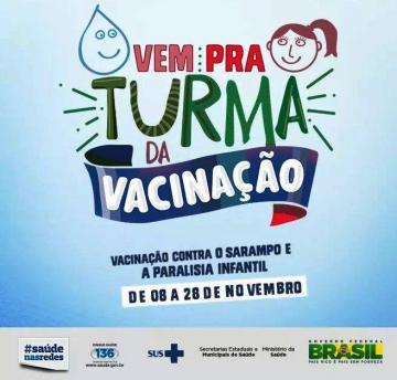 Nova Aurora inicia campanha de vacinação contra poliomielite e sarampo