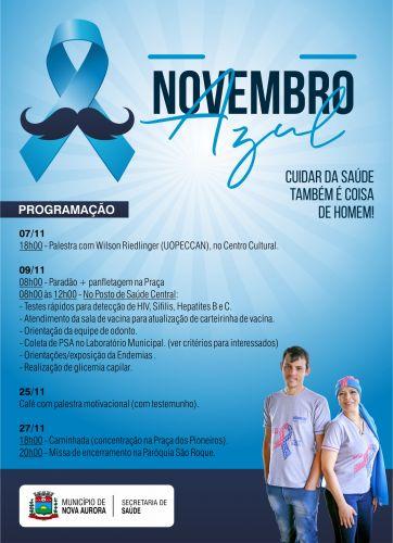 Secretaria de Saúde realiza ações do Novembro Azul