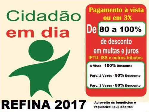 Contribuintes em dívida com o município podem aderir ao Refina