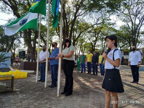 Nova Aurora: Comemorações de 7 de Setembro na Praça dos Pioneiros com público reduzido