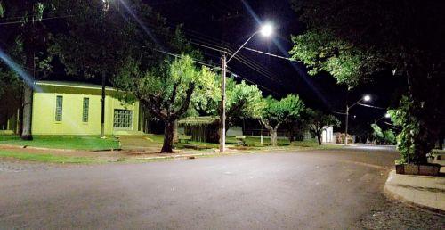 Distrito do Marajó recebe iluminação de LED nas Ruas Curitiba, Maringá e Londrina