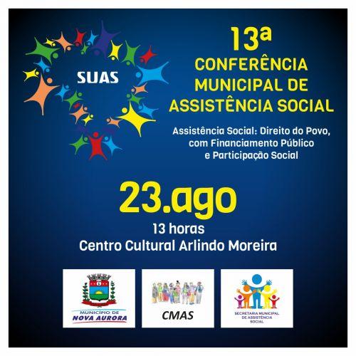 Conselho Municipal de Assistência Social realiza Conferência nesta sexta-feira em Nova Aurora