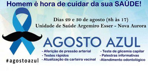 "Saúde realiza campanha ""Agosto Azul"" na próxima semana"