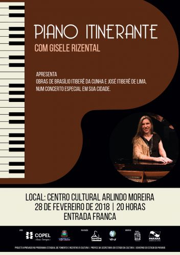 Nova Aurora recebe concerto gratuito de piano nessa quarta-feira,28