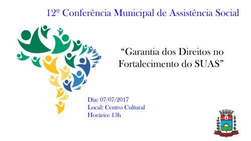 Conselho Municipal de Assistência Social realiza Conferência no próximo dia 07