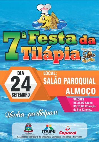 Ingressos da 7ª Festa da Tilápia já estão sendo comercializados