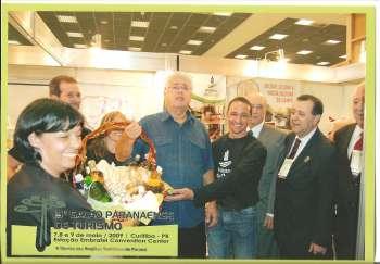 Secretário Audrey ladeado pelo Governador Roberto Requião e outras autoridades
