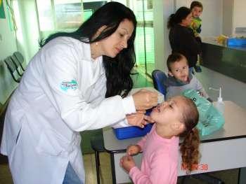 Vacinação da pólio supera meta em Nova Aurora